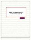 HNWI Asset Allocation in Switzerland to 2016