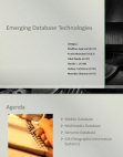 emerging  database technologies