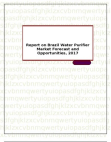Report on Brazil Water Purifier Market Forecast and Opportunities, 2017