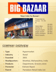 Big Bazaar Report
