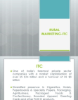 Rural Marketing ITC