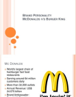 Brand Personality - McDonalds and Burger King