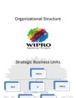 Organizational Structure - Wipro