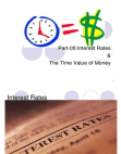 Interest Rates and Time value of money