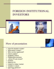 Foreign Institutional Investors Explained