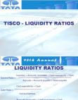 Tisco Liquidity Ratios