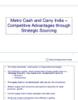 Metro Cash & Carry – Competitive Advantage