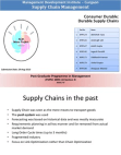 Consumer Durable: Durable Supply Chains