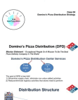 Domino's Pizza Distribution Strategy