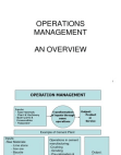 Overview & trends in operation mgmt