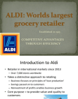 ALDI: Grocery Operations
