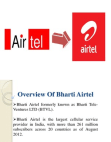 Ratio Analysis of Airtel
