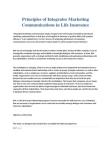 Principles of Integrates Marketing Communications in Life Insurance