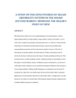 A Study On The Effectiveness Of Seller Credibility Systems In The Online Auction Market