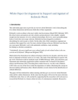 White Paper for Argument in Support and Against of Hofs-tede Work