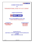 Project on Organizational structure of HDFC Bank