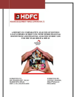 Project Reports on Comparative Analysis of Housing loan Schemes of HDFC Ltd