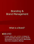 Introduction to Branding and Brand Management