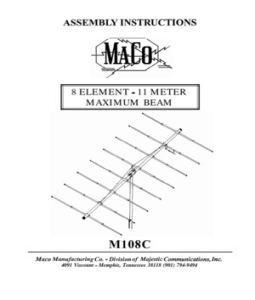 Maco 3 Element Beam http://www.scribd.com/doc/17231523/Maco-8-Element-Beam-Manual