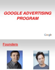 project on google advertising program