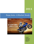 project on market study of bajaj