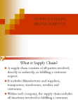NOTES OF SUPPLY CHAIN MANAGEMENT