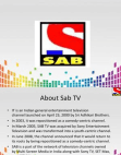 PROJECT ON SAB TV