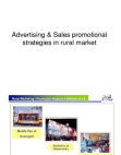 ADVERTISING AND SALES PROMOTION IN RURAL INDIA