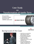 CASE STUDY ON APOLLO TYRES