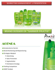 PRESENTATION ON GARNIER FRUCTIS SHAMPOO