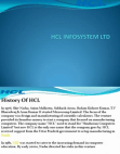 PRESENTATION ON HCL INFOSYSTEM