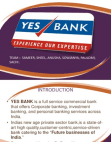 ECONOMIC ANALYSIS OF YES BANK