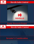 FINANCIAL ANALYSIS OF HAVELLS INDIA LIMITED