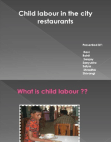 PPT on child labour