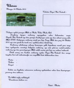 surat undangan walimatussafar