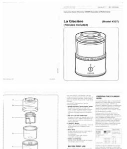 Krups Ice Cream Maker Instructions Manual