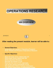 Presentation on Operation Research