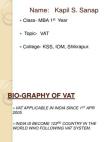 VAT sales tax