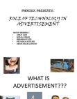 Technology in Advertisment