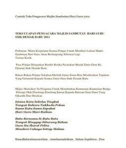 Majlis Hari Raya Idscribd Doc Contoh Teks