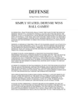 43 Defense by Roger Freeborn