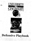 1996 University of Cincinnati Bearcats Defense  718 Pages
