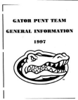1997 Florida Gators Punt Team  11 Pages