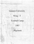 1997 Gannon University Wing T Camp  14 Pages