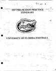 1997 University of Florida Pre Season Defense