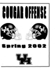 2002 Univiversity of Houston Spring Offense  215 Pages