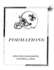 2004 New Orleans Saints Offense  146 Pages