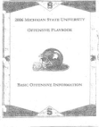 2006 Michigan State University Offense  115 Pages