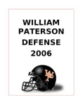 2006 William Paterson 52 Defense  240 Pages