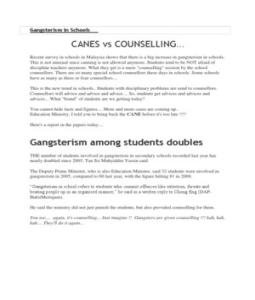 school gangsterism essay